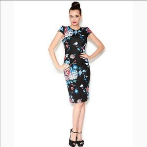 Betsey Johnson Floral print Stretch midi dress